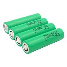 4 X Samsung INR IMR 18650 25R 2500mAh 20/35A Li-Mn Alto Consumo de la Batería Plana 3.7V