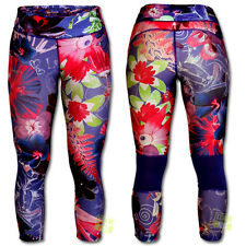 Desigual Femmes Leggings Pantalon de sport Elena bleu