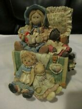 """San Francisco Music Box """"Friends Are The Best Collectibles""""Girl w/Her Dolls 1996"""