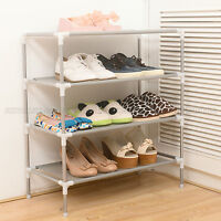 4-Tier Space Saving Storage Organizer Shoes Tower Rack Shoe Shelf Free Standing