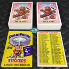 GARBAGE PAIL KIDS 4th SERIES 4 COMPLETE 84-CARD SET 1986 +FREE WAX WRAPPER OS4