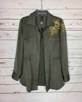 Black Label By Chico's Women's Size 1 Green Embellished Jacket Top NEW TAGS $199