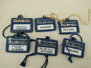 Lot of Vintage Casio Watch Tags, Casiotron 1970' / 1980'