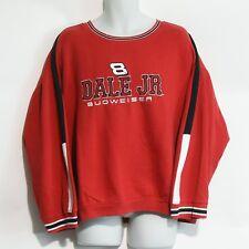 Dale Earnhardt Jr Nascar Budweiser Red 2XL Crewneck Sweatshirt Winners Circle #8