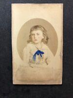 Victorian Carte De Visite CDV: Southwell Bros: Young Boy: Tinted Colour : 1 Of 2