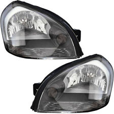 Headlights Headlight Assembly w/Bulb NEW Pair Set for 05-09 Hyundai Tucson