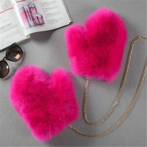 Winter Fox Fur Gloves Thick Plush Artificial Pu Warm Hanger Velvet Womens Girl