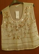 Gorgeous Sequined Top by New Look size 14