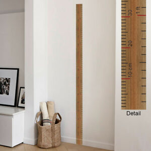 Wooden school ruler height chart wall sticker, Growth Chart, Vintage style