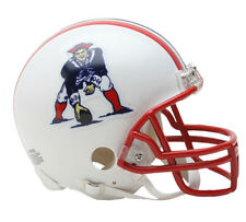 Autographed England Patriots Riddell ProLine Throwback Mini Football Helmet