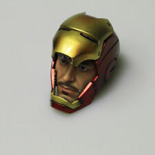 "1/6 Scale Custom Iron Man MK7 TONY STARK Head Sculpt with Mask For 12"" Figure"