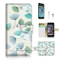 ( For iPhone 7 ) Wallet Case Cover P2702 Flower