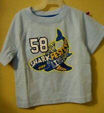 Infant Boys Shark Festival T-shirt 18 mons casual wear Faded Glory blue