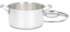 New Cuisinart Chef's Classic 6-Quart Stockpot w/ Cover Cookware Stainless Steel