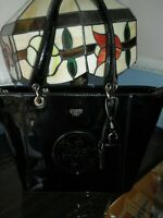 GUESS KANRYN TOTE BAG BLACK PATENT LIGHTLY USED RRP £99