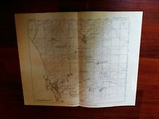 1897 USGS Map Water Supply Sources Vicinity San Diego CA Mt Tecarte Watershed