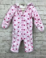 Old Navy Baby Toddler Girl's Fleece Hooded Zip up Hoodie Romper 12-18Months