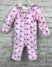 Old Navy Baby Toddler Girl's Fleece Hooded Zip up Hoodie Romper 12-18Months