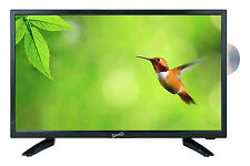 "19"" LED LCD HDTV TV w/ BUILT IN DVD PLAYER AC & 12 VOLT DC BRAND NEW"