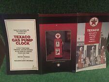 """Franklin Mint """"Texaco Gas Pump Clock."""" Brochure!"""