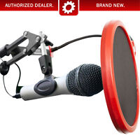 Deco Gear Universal Pop Filter Microphone Wind Screen with Mic Stand Clip