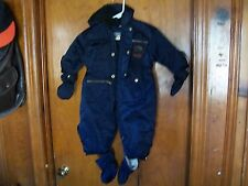 Giacca Size 24M Child's Snowsuit - Navy, w Snap-On Gloves, Booties