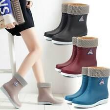Women Flats Chelsea BootiesAnkle Wellies Wellington Boots Ladies Shoes Size