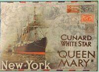 Retro Wooden Queen Mary Sign Wall Plaque Poster Bar Pub Club Home Decor