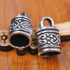 20ps Silver End Cap Bead Stopper Fit 8mm Cord Jewelry Bracelet DIY Marking A7094
