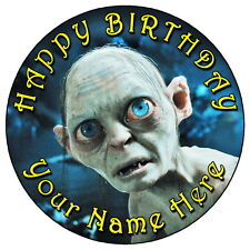 """GOLLUM (HOBBIT & LORD OF THE RINGS) - 7.5"""" PERSONALISED EDIBLE ICING CAKE TOPPER"""