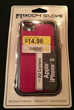 Body Glove Custom Fit Cell Phone Apple iPhone 5 Pink Case NEW
