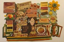 Fabulous Fall Autumn Give Thanks Chipboard Mini Book Album DIY Kit Scrapbooking