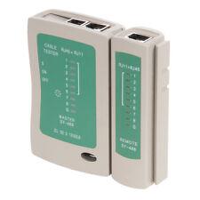 Testeur LAN de connexion pour câbles RJ11 et RJ45 REF 539465