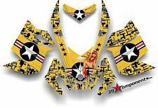 SKI DOO REV XP SNOWMOBILE SLED GRAPHICS DECAL Sticker Kit Aircraft Pinup Yellow