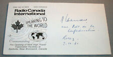 Paul Chaudet President of The Swiss Confederation Signed First Day Cover