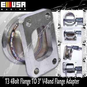 "Steel Adaptor fit T3 4 Bolt Flagne TO 3"" V-Band Flange manifold turbo charger"