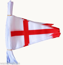 ST GEORGE ENGLAND flag BUNTING TRIANGLE Triangular 20 metres 54 flags English