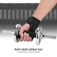 Padded Wrist Wraps Weight Lifting Training Gym Straps Support Grip Gloves 1 Pair