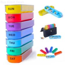 Xinhome Pill Organizer Box Weekly Case Large Travel Medication Reminder Daily