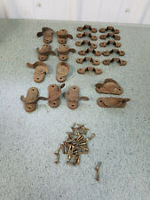 Antique Vintage Metal Window Sash Latch Locks with Catches Lot of 11