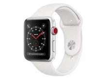 Apple Watch Series 3 GPS+Cellular 42mm Caja de Aluminio en Plata y Correa Deportiva en Blanco, Reloj Inteligente (MTH12QL/A)