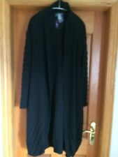Absolut By Zebra Lagenlook Black Jacket / Coat Size 2 UK 10-12