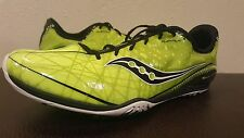 Saucony Shay XC3 Mens Cross Cntry Spikes Shoes Sz 12.5 Green Black NO SPIKES