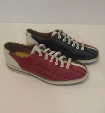 AMF Vintage Rental Bowling Shoes Size 7 Retro Classic Leather Red White Blue