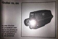 Rollei SL 86 In Practical Use Manual, Instruction Book Genuine Original