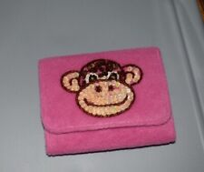 Paul Frank's Women's Tri-Fold Wallet Monkey Pink Sequins Soft Fabric Claire's