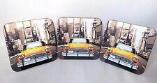 New York - NYC - Yellow Taxi - Coasters - Set Of 3 - Premium Hardwood - Gift