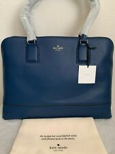 NWT Kate Spade Young Lane Marybeth Leather Laptop Tote $428 Atlantic Blue