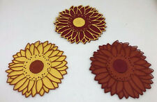 Genuine Stampin Up Tool Paper Cardstock 16 pc Sunflower Punch Shape Die Cut Tag