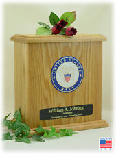 Wood Military Cremation Urn - Navy - Made In The USA